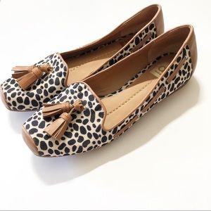 Dolce Vita Animal Print Tassel Loafers Leopard